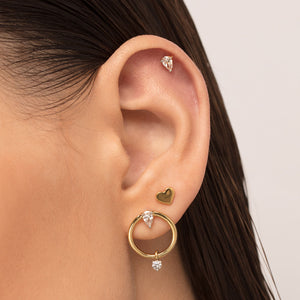 Heart Shaped Cartilage Stud