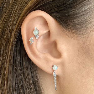 Lighting Shaped Cartilage Stud