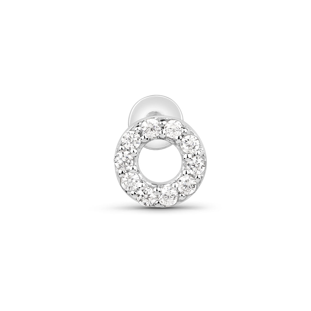 Cubic Zirconia O Threaded Stud