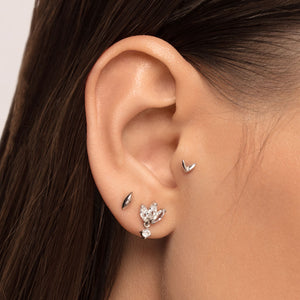 Double Leaf Threaded Stud