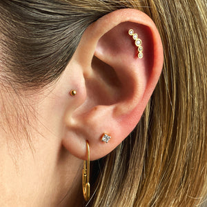 Cubic Zirconia Threaded Stud