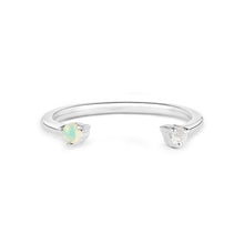 Load image into Gallery viewer, Topaz and Opal Adjustable Ring