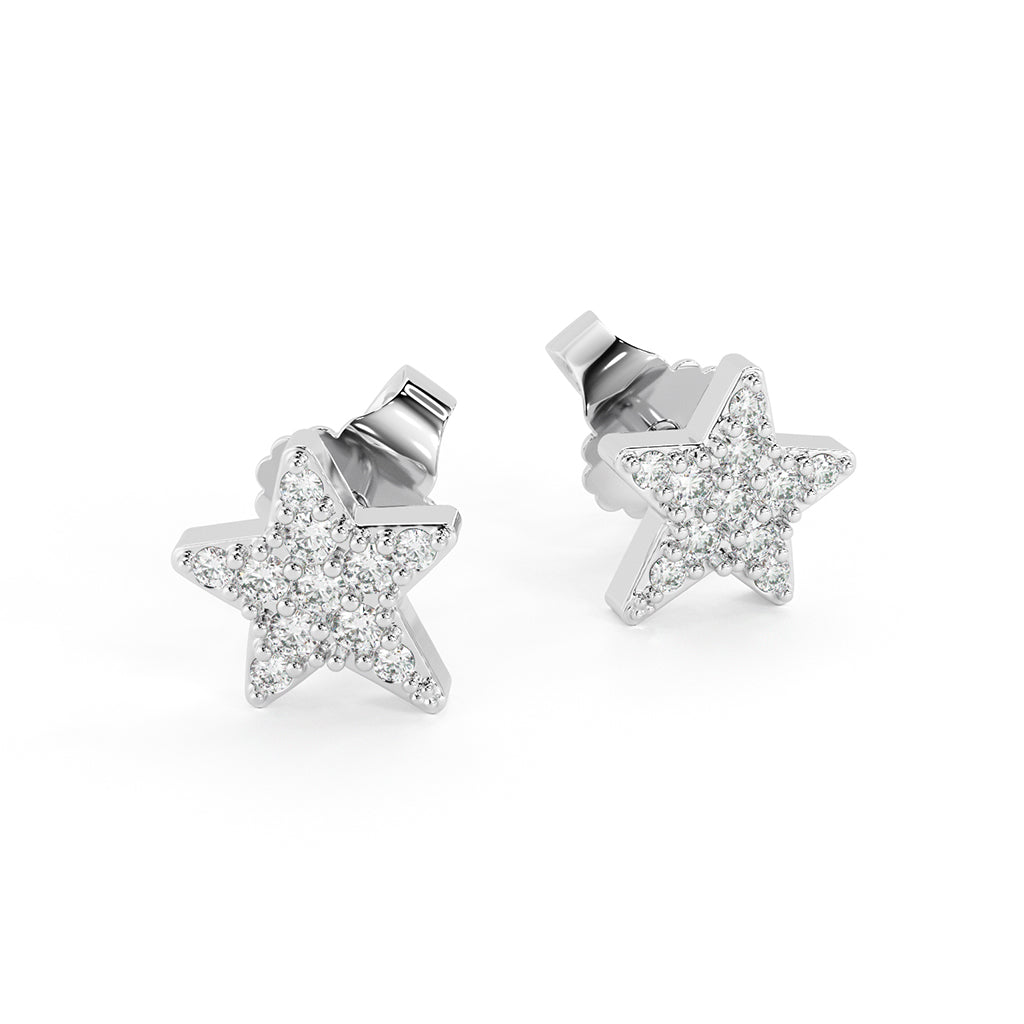 Cubic Zirconia Universe Pave Star Studs