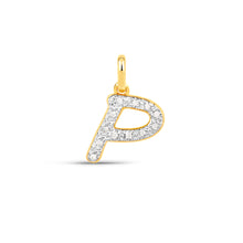 Load image into Gallery viewer, Cubic Zirconia P Pendant