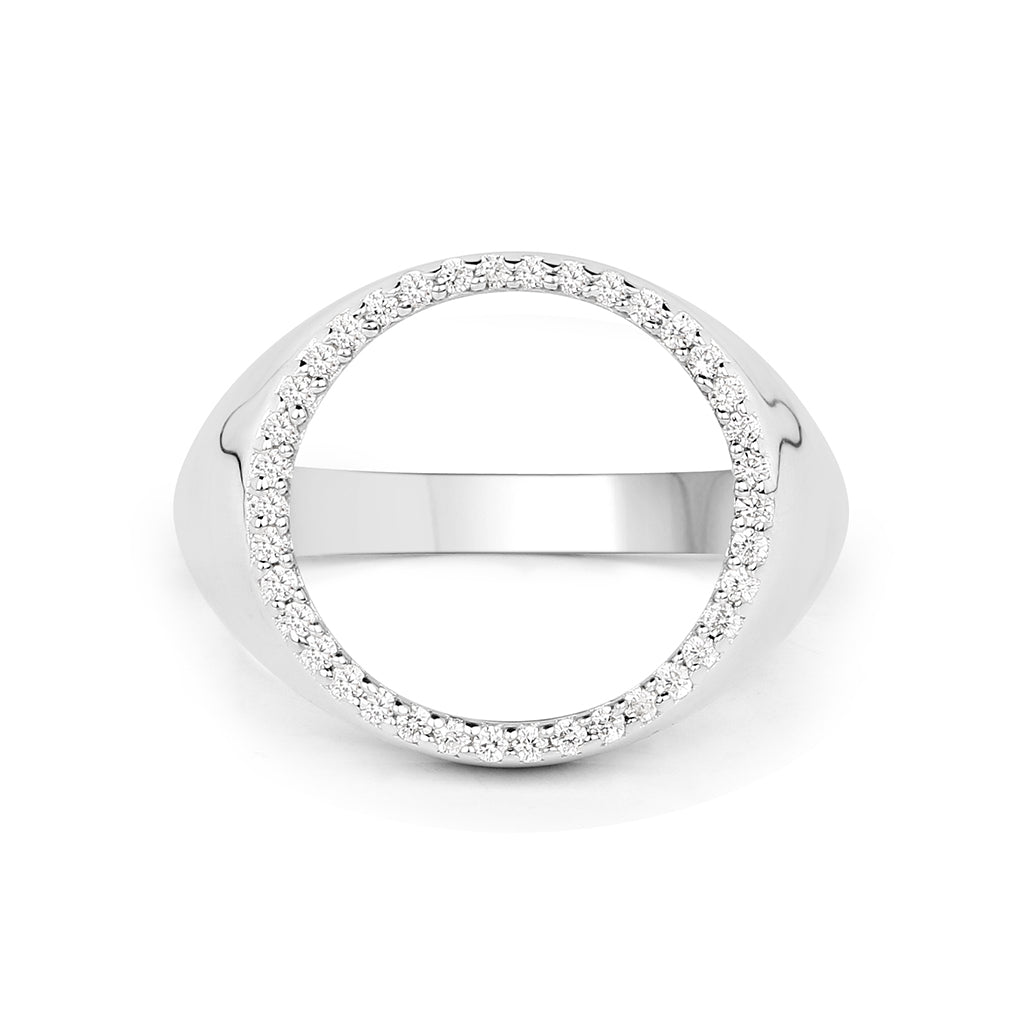 Pave Signet Ring