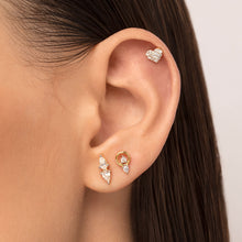 Load image into Gallery viewer, Cubic Zirconia Heart Shaped Cartilage Stud