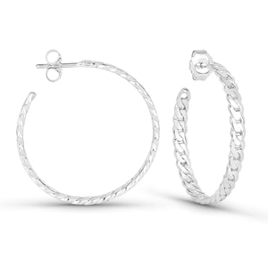 Curb Chain Maxi Hoops Earrings