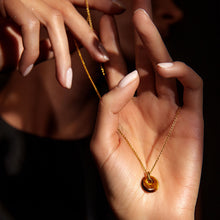 Load image into Gallery viewer, Tiger's Eye Birthstone Pendant Sagittarius