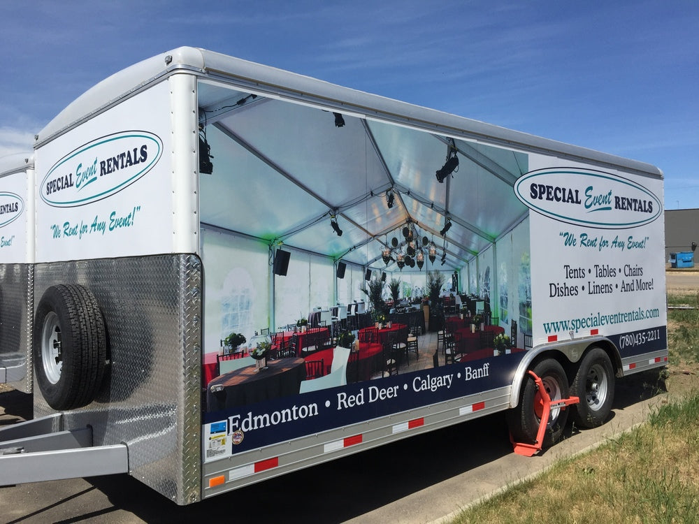 Special Event Rentals trailer wraps