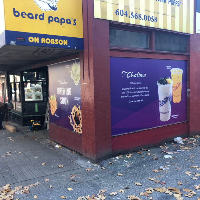 Chatime on Robson Street in Vancouver, BC