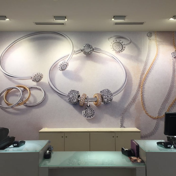 Wall murals at Pandora stores