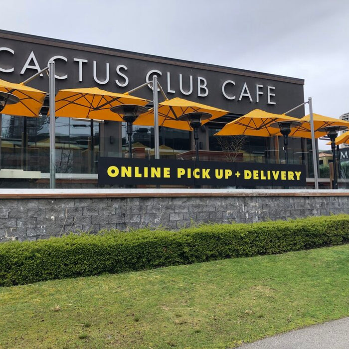 Cactus Club Nation Wide - delivery and takeout signage!