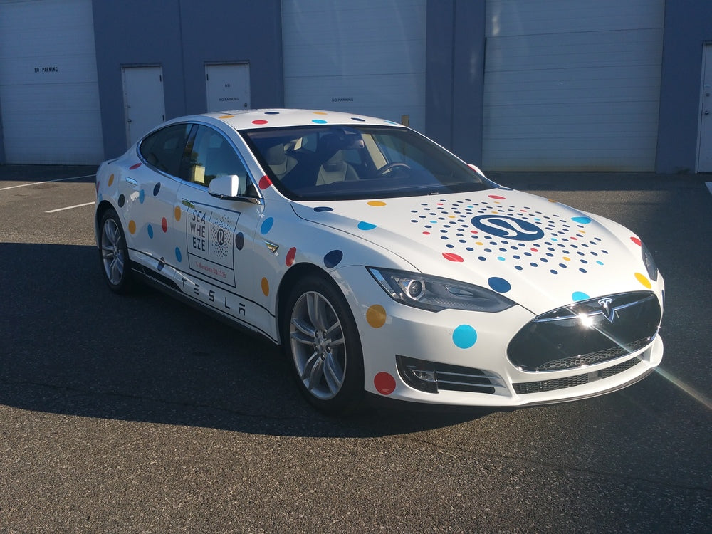 Lululemon Tesla Pace Car wrap