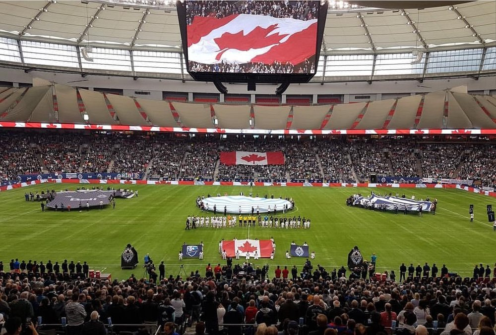 Whitecaps home opener game.