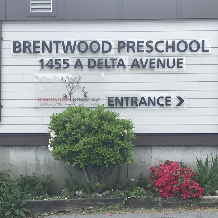 Giving back to the community - Brentwood Preschool signage