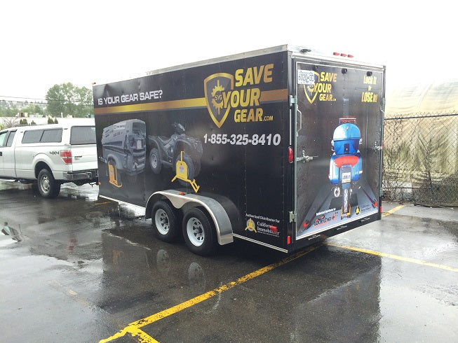 Lock it up! Saveyourgear.com 16ft trailer.