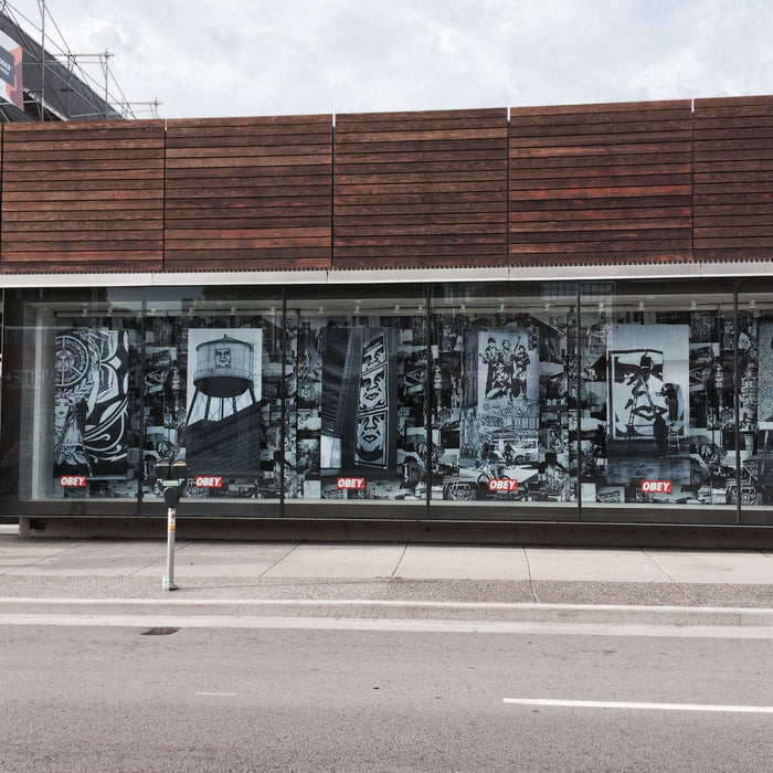Obey window display at The Boardroom