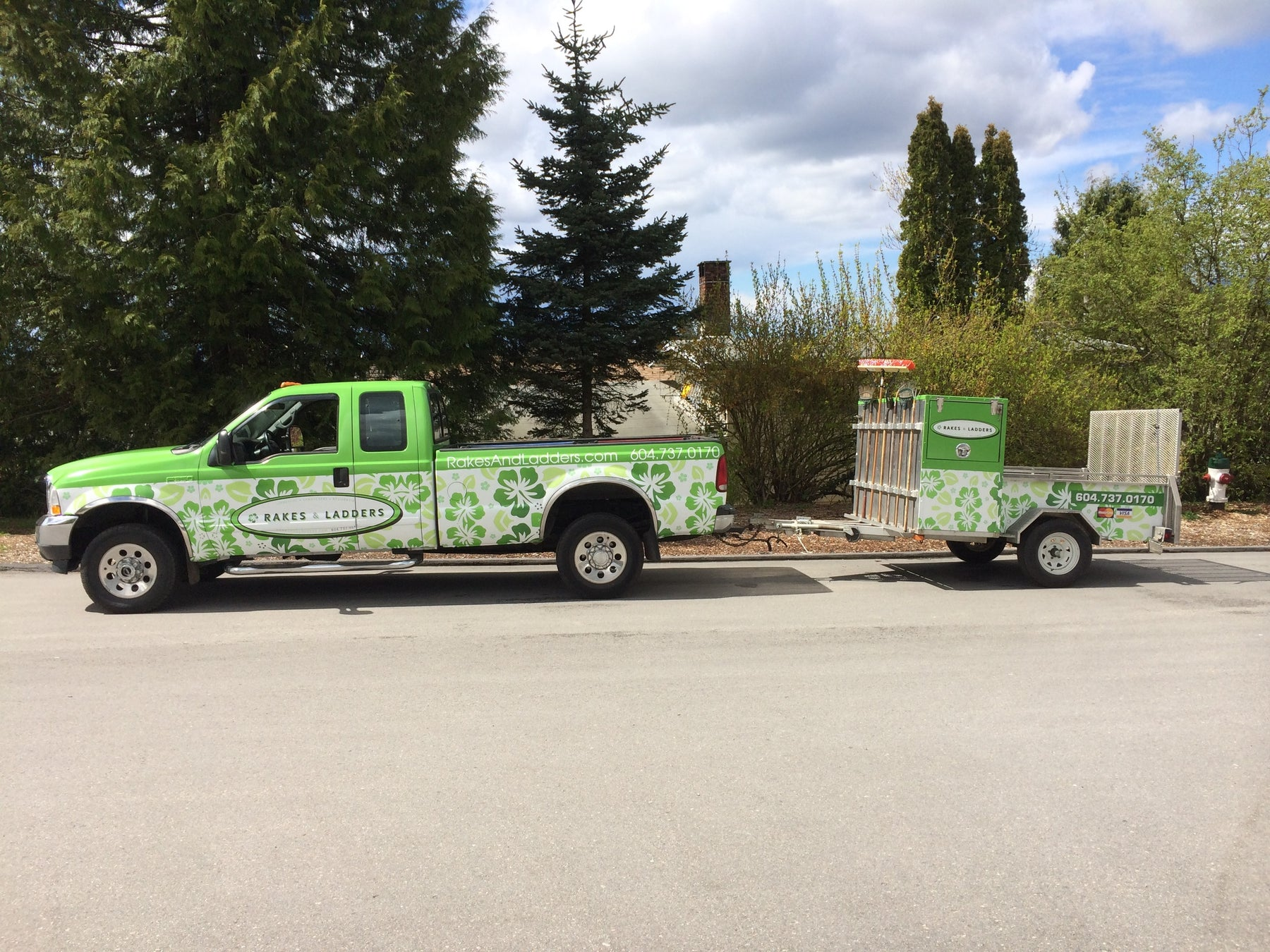 Rakes and Ladders truck&trailer wrap