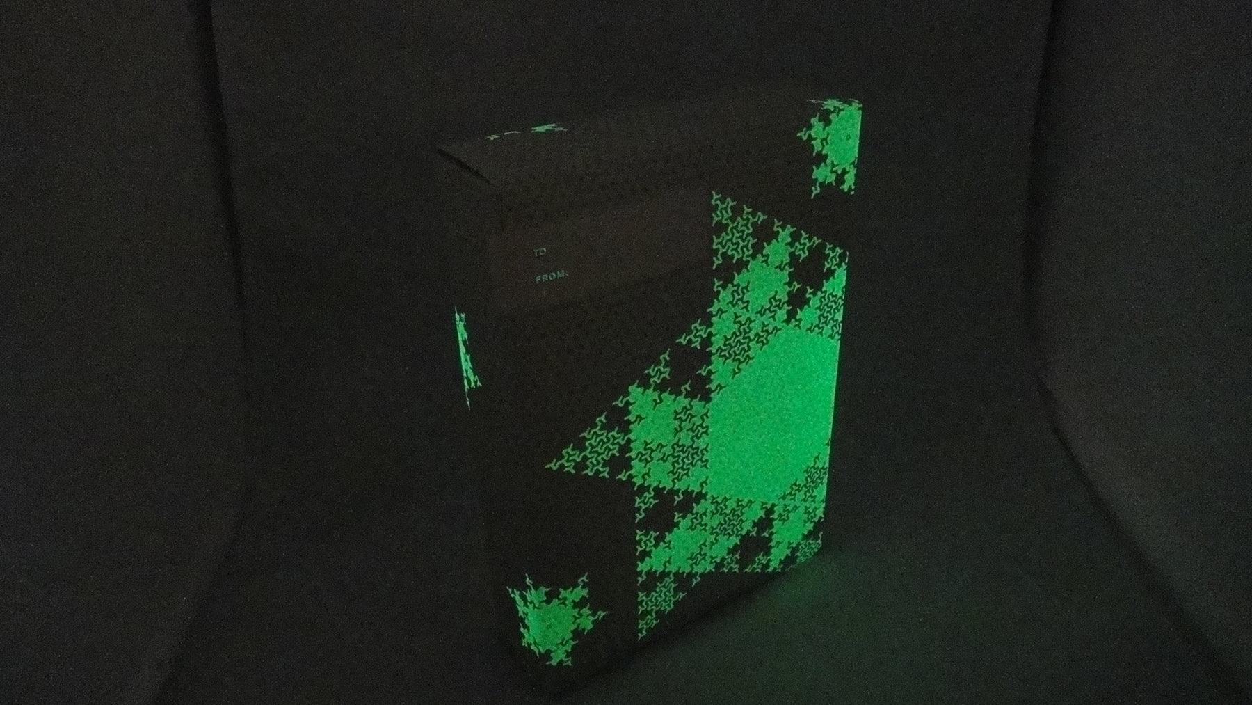 Saxx gift wrap that glows in the dark!