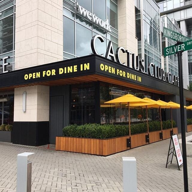 Open for dine in soon!  @cactusclubcafe  #print #install #reopening #pandemic#covid19 #cactusclub #supportlocal #printing #signs