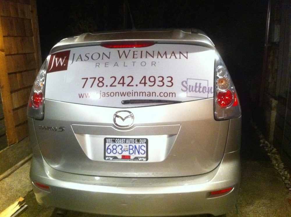 Rear Window Perf - Car Wraps in Vancouver