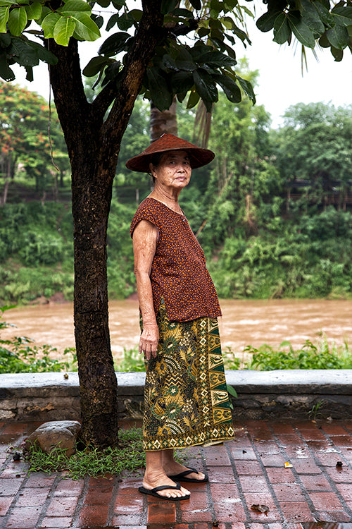 Villager with sarong, Luang Prabang, Laos