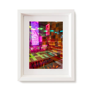 Custom Frame Neon Colors in Mongkok, Hong Kong, China, 2019