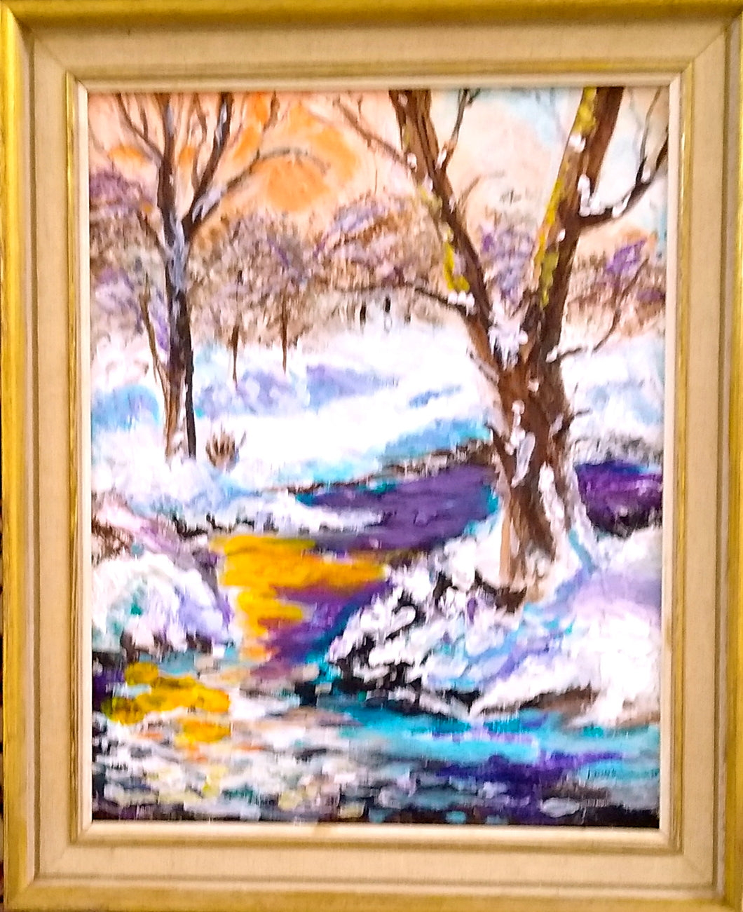 Winter Shadows Framed  14x11