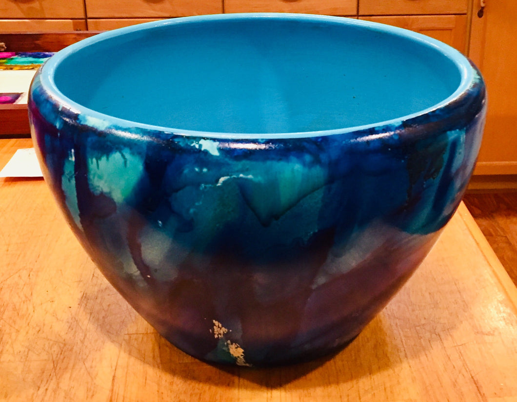 Blue Days Alcohol ink bowl
