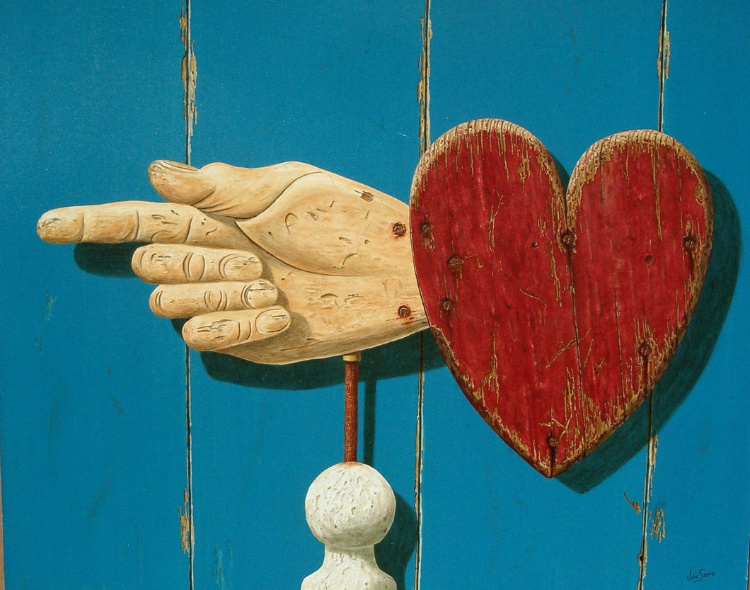 Which Way the Heart? Giclee 9/300 16 X 20, Unframed