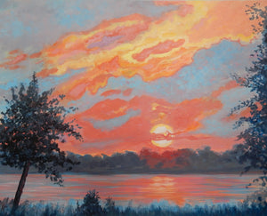 Cape Fear Sundown, 20 x 16 x .8 (unframed)