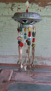 "Silverplate Wind Chime 30"" Long-Flatware Chimes"