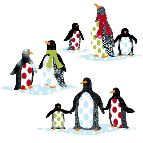 Patterned Penguin Wall Decals - Wall Dressed Up - 1