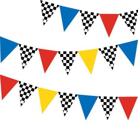 Race Car Flag Wall Decals Repositionable Matte Fabric Wall