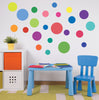 23 Multi-sized Rainbow Colors Polka Dot Decals - Wall Dressed Up - 1