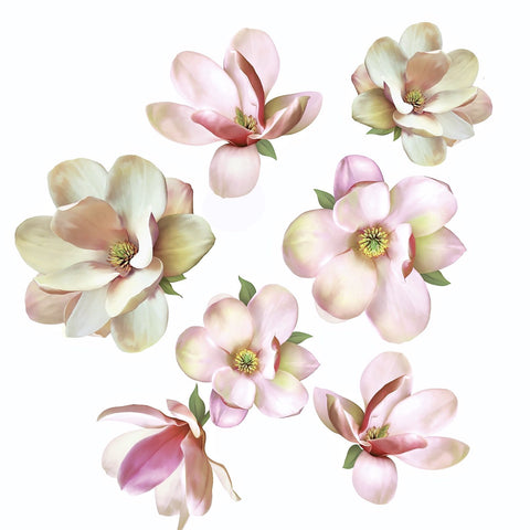 Large Magnolia Decals Flower Decals Eco Friendly Flower Wall Decals