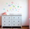 A-Z Alphabet ABC's & 23 Multi sized Sorbet Dot Fabric Wall Decals - Wall Dressed Up - 4
