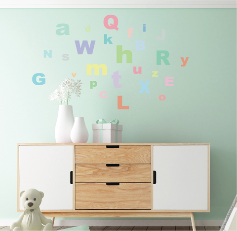 ... A Z Pastel Alphabet ABCu0027s Fabric Wall Decals   Wall Dressed Up   2 ...