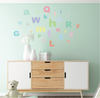 A-Z Pastel Alphabet ABC's Fabric Wall Decals - Wall Dressed Up - 2