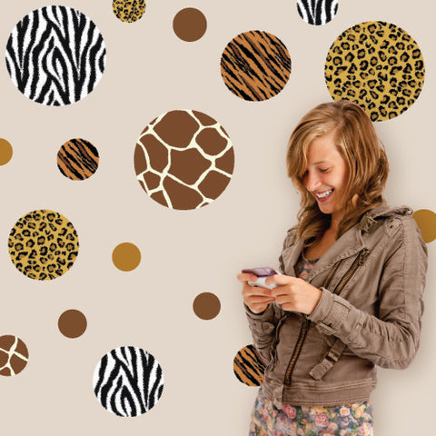 Animal Print Dot Wall Decals, Eco-Friendly Removable Wall Stickers - Wall Dressed Up
