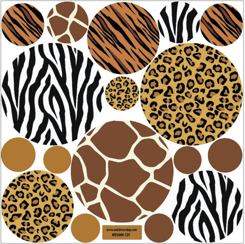 ... Animal Print Dot Wall Decals   Wall Dressed Up   2 Part 84