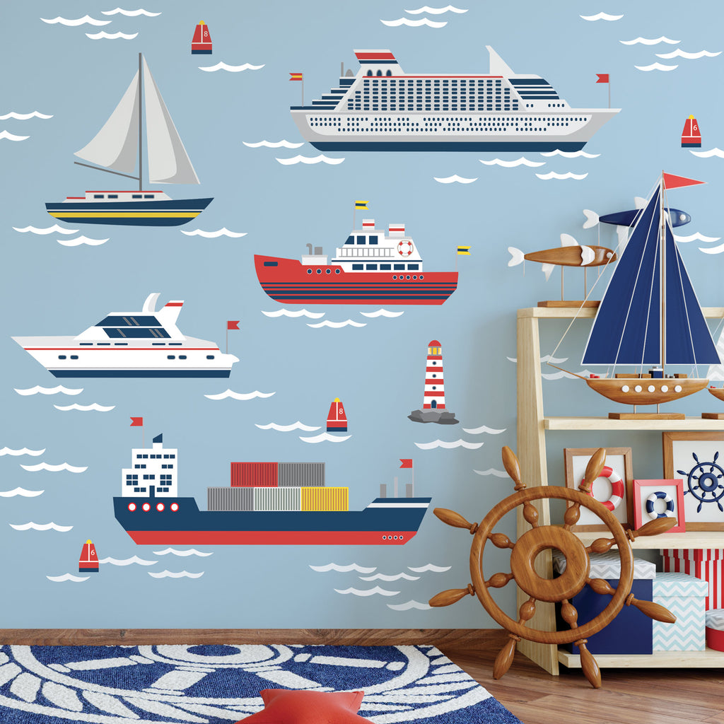 Nautical Wall Decals Boat Wall Decals Sailboat And Ship Wall Sticker