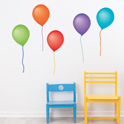 Balloon Wall Decals, Eco-Friendly Removable and Reusable Peel and Stick Colorful Party Decorations - Wall Dressed Up