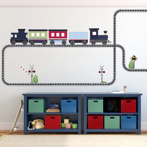 strip tracks to brackets and with shelf wooden wall glued train mounted pin wood