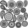 Boho Zentangle Mandala and Paisley Doodle Wall Decals - Wall Dressed Up - 2