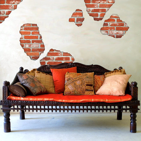 Faux Brick Breakaway Wall Decals - Wall Dressed Up - 1