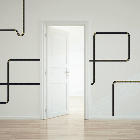 Black Road Wall Decals Curved and Straight - Wall Dressed Up - 1