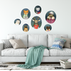 Hipster Holiday Fabric Wall Decals - Wall Dressed Up - 1