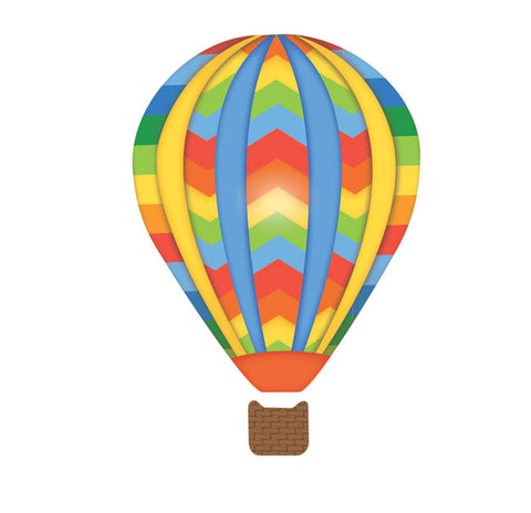 ... Hot Air Balloons U0026 Clouds In Primary Colors Wall Decals   Wall Dressed  Up   4