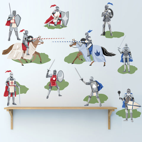 Medieval Knights Wall Decals, Boys Wall Decals, Removable Wall Stickers - Wall Dressed Up